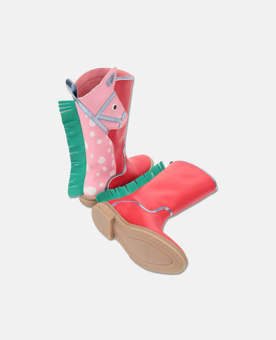 STELLA MCCARTNEY KIDS Horse and Fringes High Boots