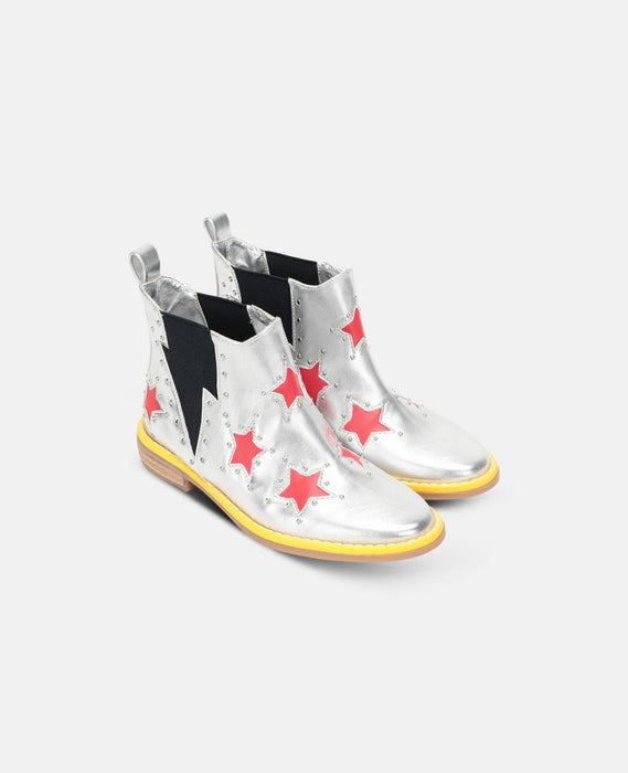 STELLA MCCARTNEY KIDS  Red Stars Ankle Boots