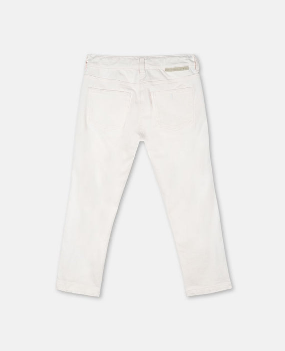 STELLA MCCARTNEY KIDS Horses & Fringes Denim Trousers