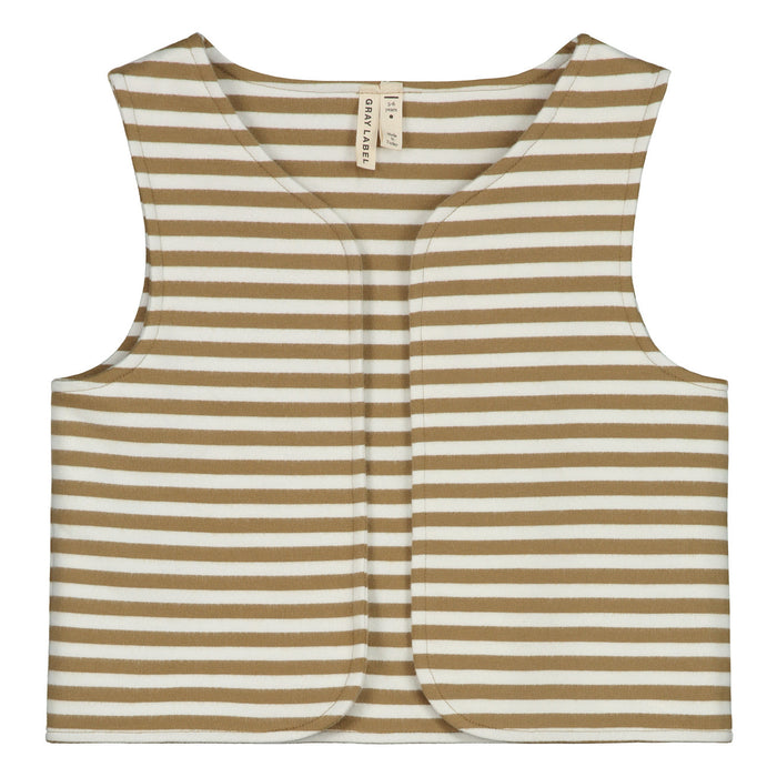 GRAY LABEL - Gilet Stripes Peanut