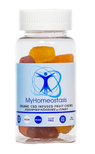 MyHomeostasis CBD GUMMIES 30CT 750MG (VEGAN)