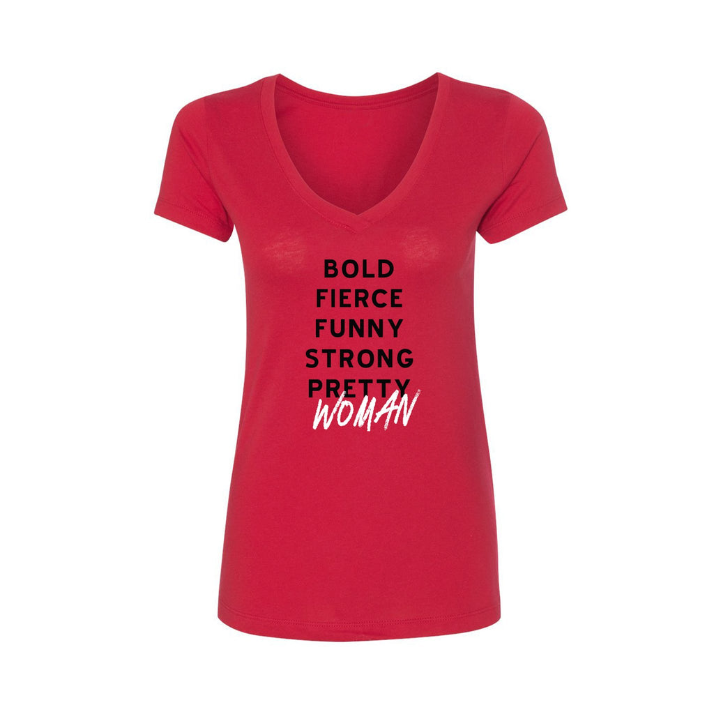 PRETTY WOMAN Bold Fierce Red Tee