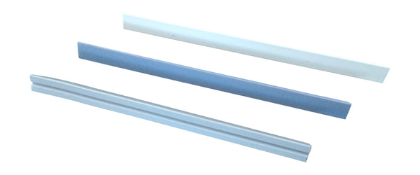 "7"" Triangular White Fine Grit Replacement Rod"