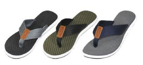 Men's Sandals with Braided Trim (3 color options)