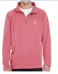 Quarter-Zip Embroidered Logo Pullover (Crimson)
