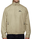 Men's Micro Twill Embroidered Logo Jacket (Limestone)