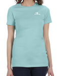 Ladies SS Fitted Tee w/ Embroidered Logo (Seafoam)