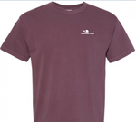 Garment Dyed Heavyweight Embroidered Logo Tee - Men's (Vineyard/White)