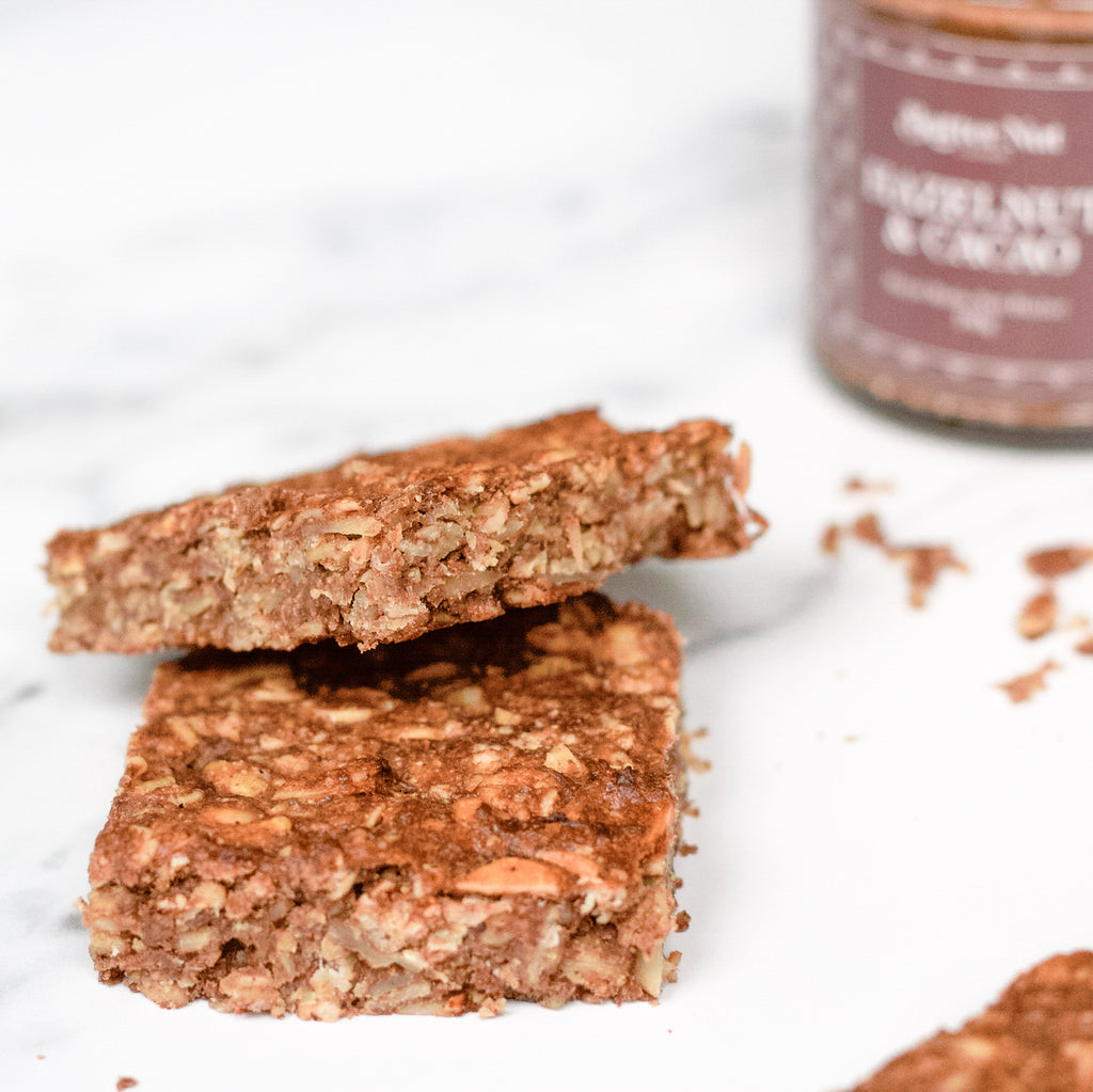 Hazelnut & Cacao Nut Butter Flapjacks Recipe | Butter Nut of London