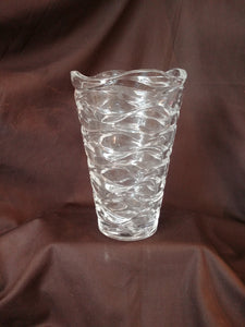 Clear Heavy Glass Vase