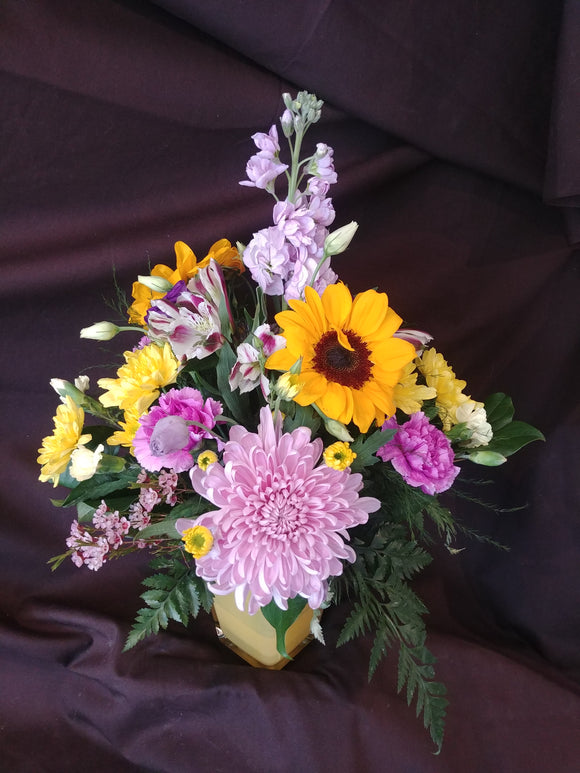 Cheerful Floral Bouquet, Bouquet with Sunflowers, Cheerful  Get Well Soon Bouquets, Floral Arrangements sure to get a smile