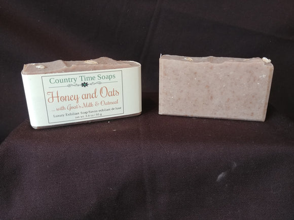 Honey and Oats Goat Milk Exfoliating Soap