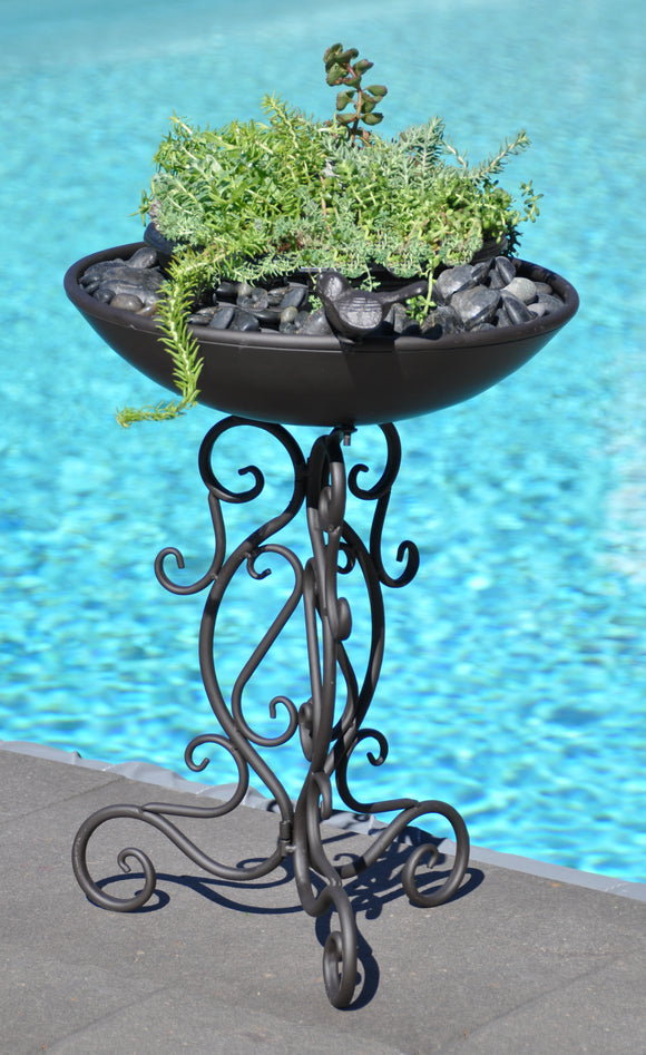 Metal Bird Bath / Planter