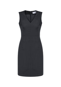 Sleeveless VNeck Dress - Assorted Colours