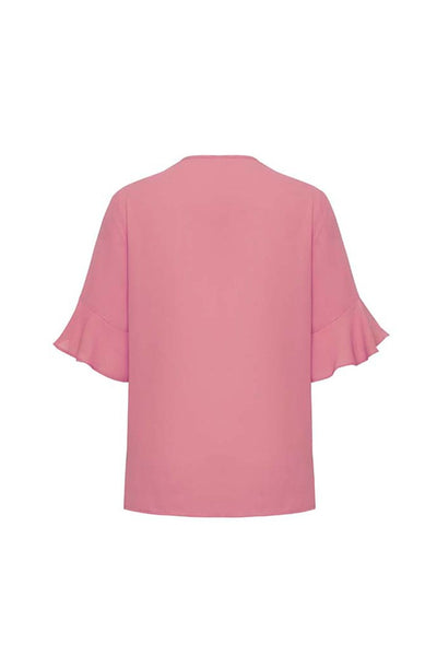Aria Fluted Sleeve Blouse - Assorted Colours