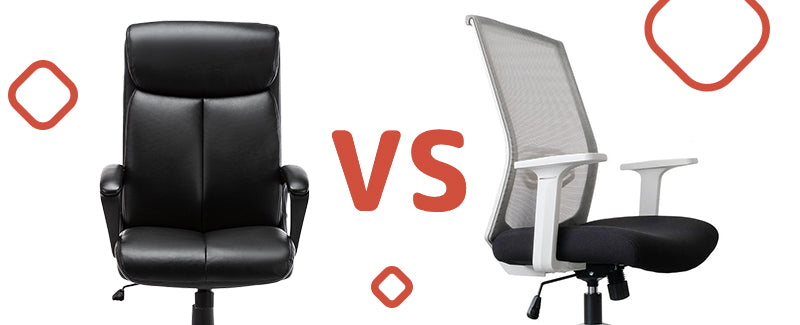 Leather Office Chair Vs Mesh Office Chair | Let's Compare Both