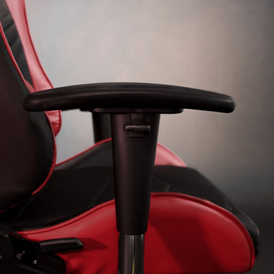 red gaming racing char adjustable armrest