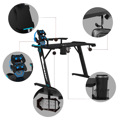z gaming desk extra features
