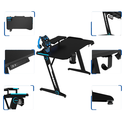 z gaming desk features