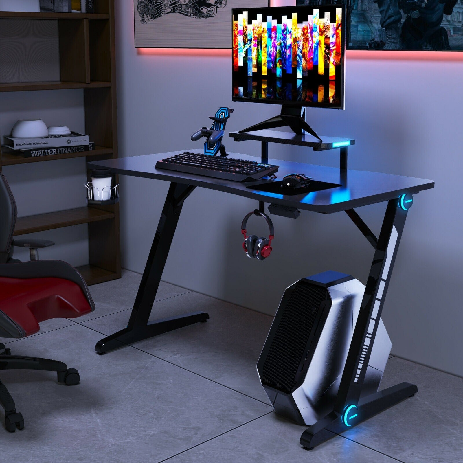 Siege Gaming Desk - Qwork Office Furniture