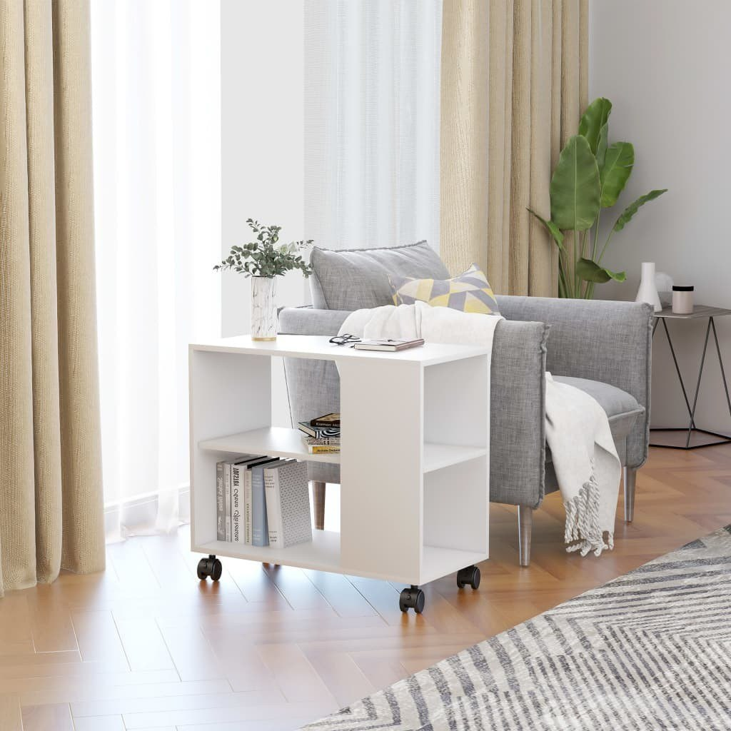 Elias Mobile End Table With Storage In White