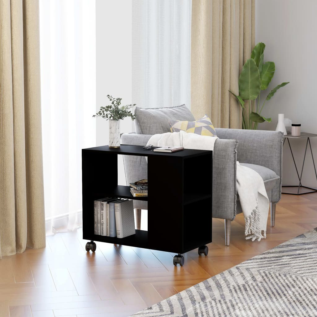 Elias Mobile End Table With Storage - Qwork Office Furniture