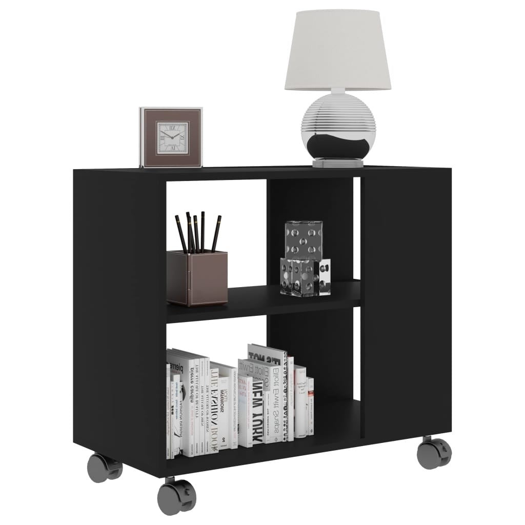 Elias Mobile End Table With Storage In Black