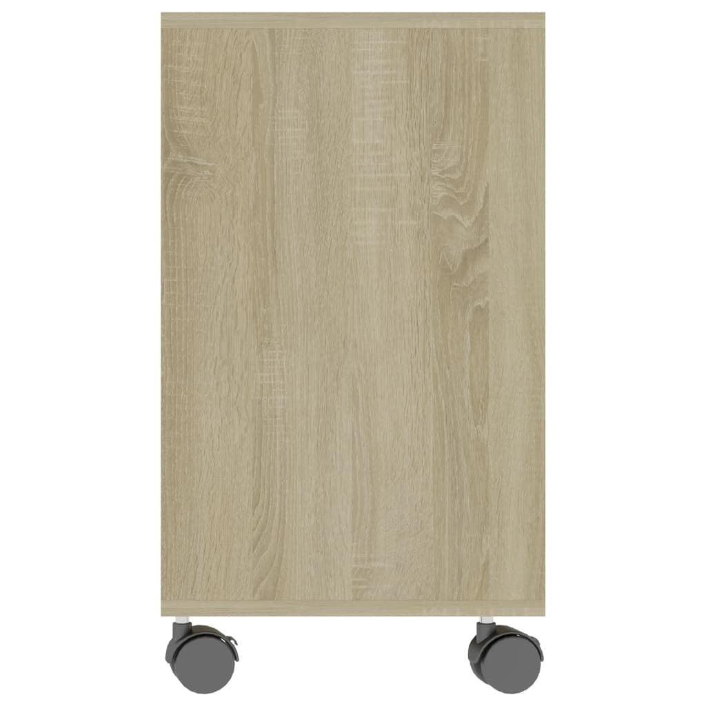 Elias Mobile End Table With Storage Original Wood