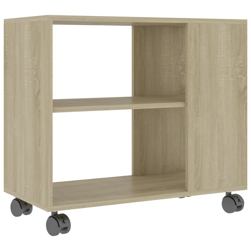 Elias Mobile End Table With Storage Natural