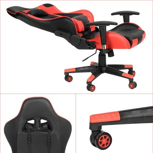 Galex Faux Leather Gaming Chair Red