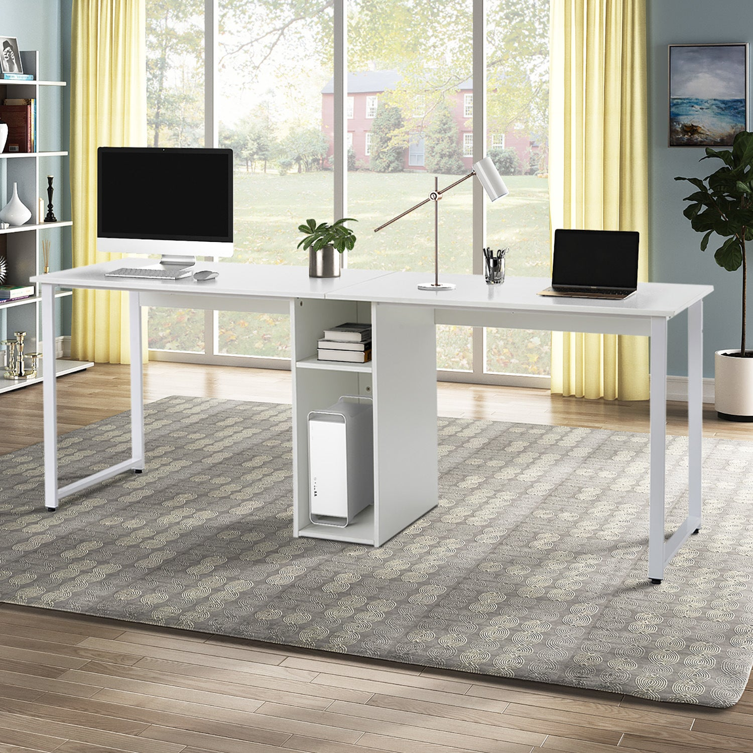 Ekkah 2 Person Computer Desk Qwork Furniture