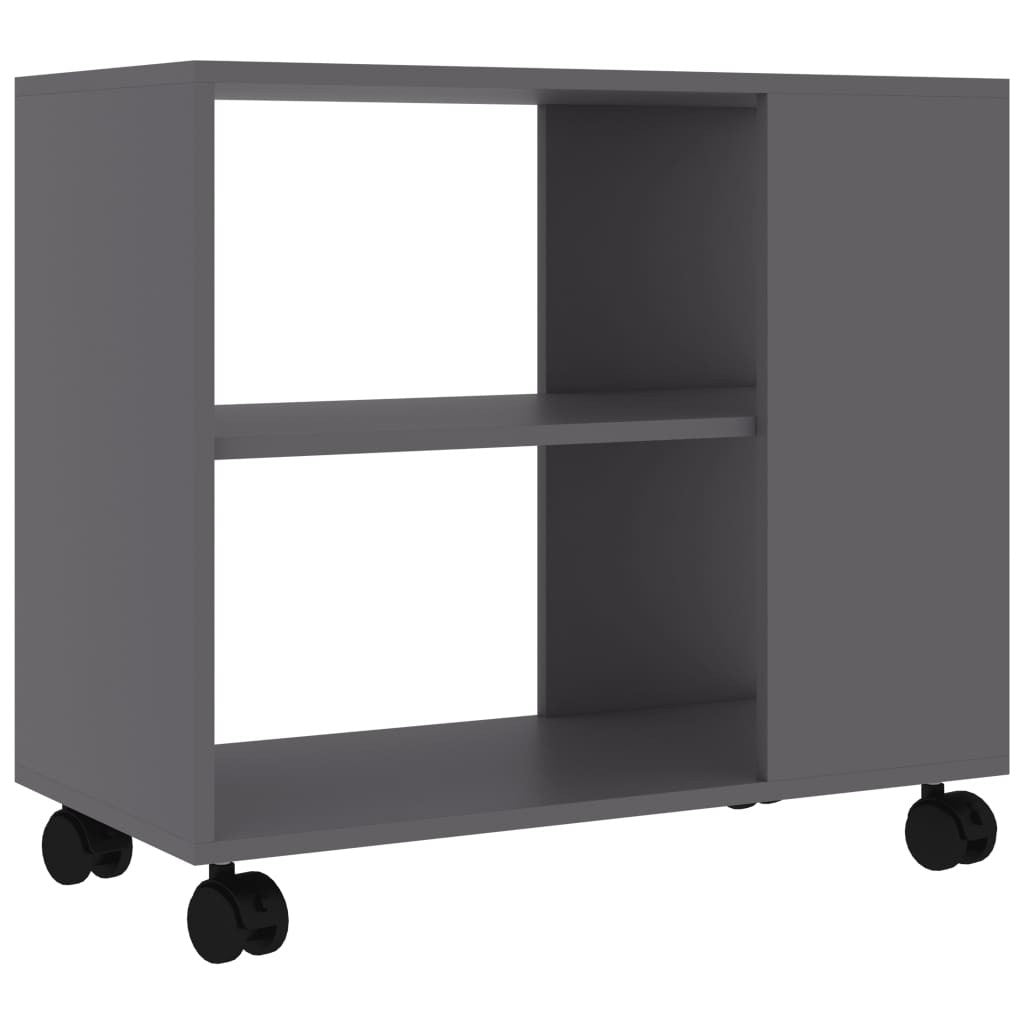 Elias Mobile End Table With Storage Brown