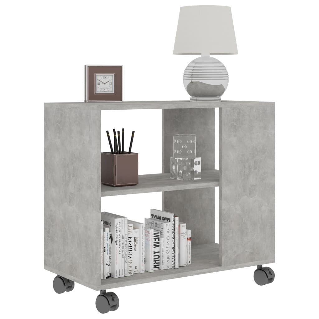 Elias Mobile End Table With Storage Grey