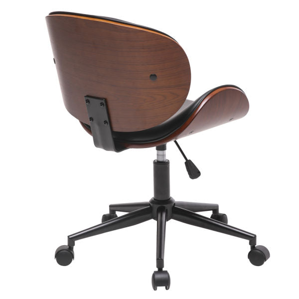 Barna Mid-Century Desk Chair - Qwork Office Furniture