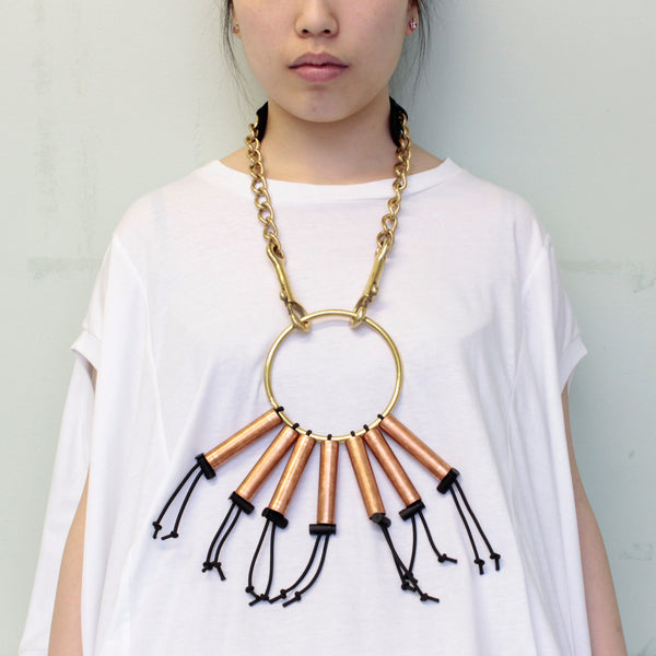 mixed metal necklace (l)