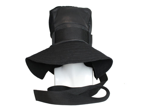 belted oversized cube hat