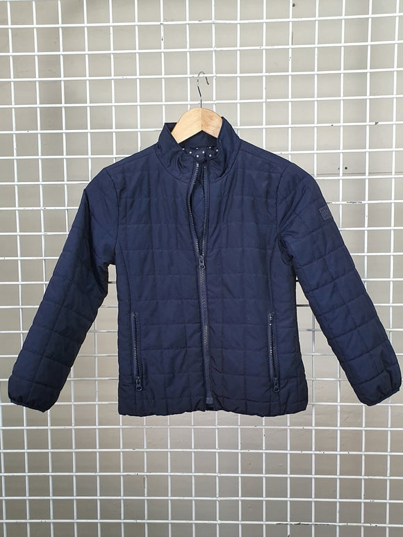 Girls Navy Puffer Jacket - Gap Kids