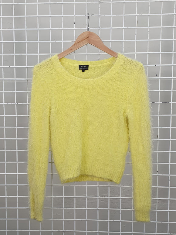 Fluffy Yellow Jumper - Bardot