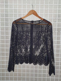 Guess Lace Overlay Top