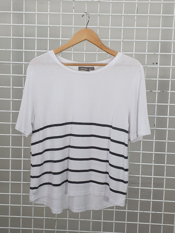 Stripy basic tee