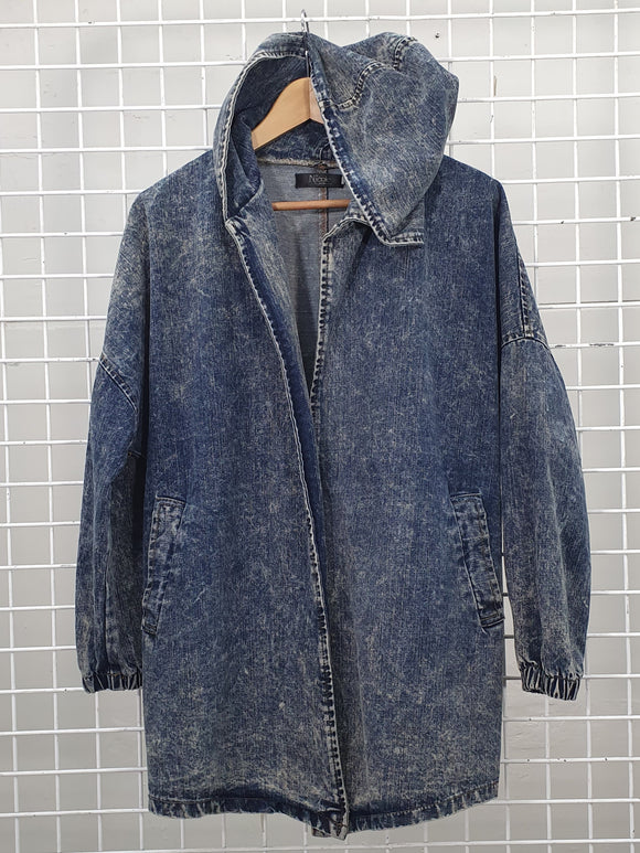 Denim Hooded Jacket - Nicole