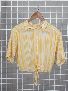 Yellow Crop Shirt - Nunui