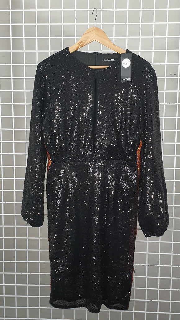 Sequin Dress - Boohoo
