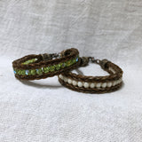 Custom Handcrafted Horse Hair Bracelet with Czech Glass Beads and Artisan Horseshoe End Caps