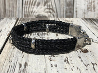 Custom Horse Hair Bracelet with Sterling Silver Hardware