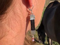 Custom Horse Hair Earrings with Rainbow Tourmaline Beads