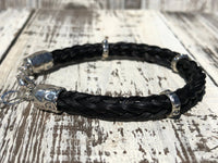 Custom Horse Hair Bracelet with Sterling Silver Sliders