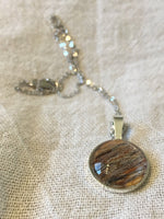 Sterling Silver and Horse Hair Necklace, Made from Your Horses Hair