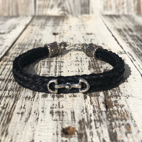 Scout ~ Horse Hair Bracelet with Snaffle Bit Charm