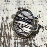 Sterling Silver Ring Set With Your Horses Hair